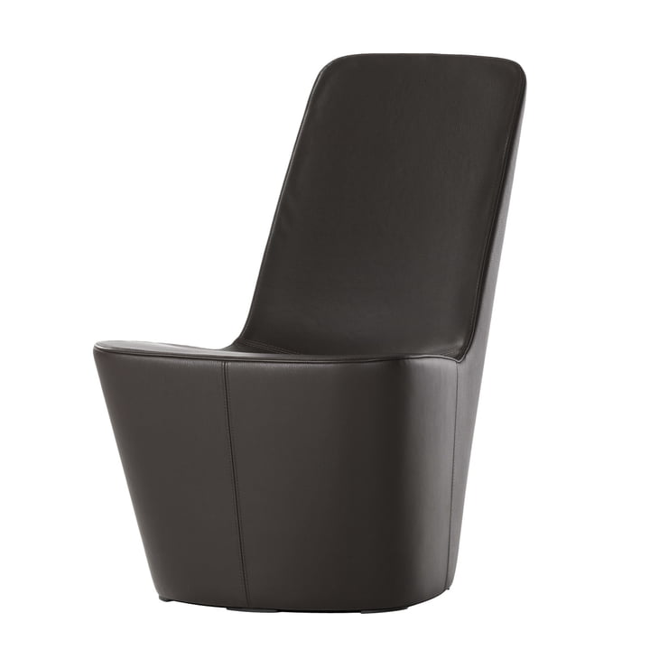 Monopod Sessel, Leder schwarz