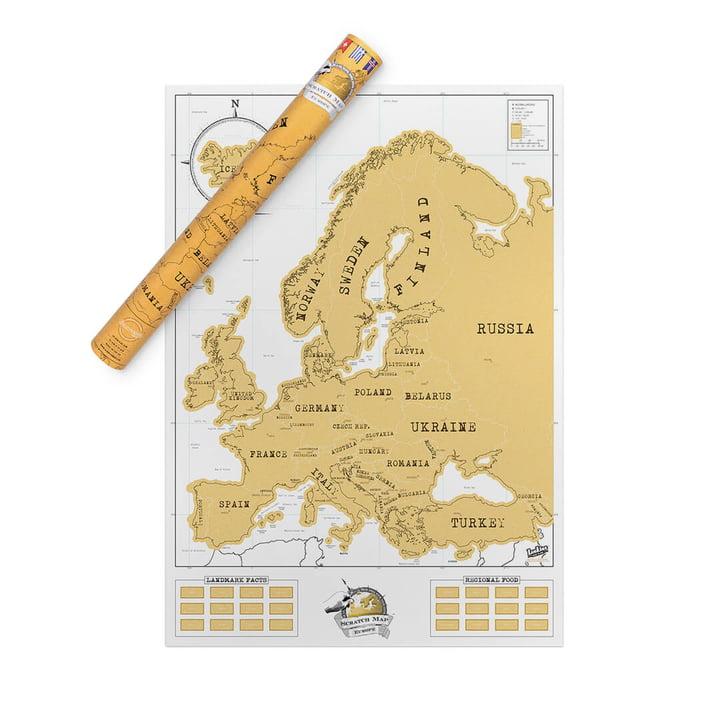 europa scratch map von luckies im design shop. Black Bedroom Furniture Sets. Home Design Ideas