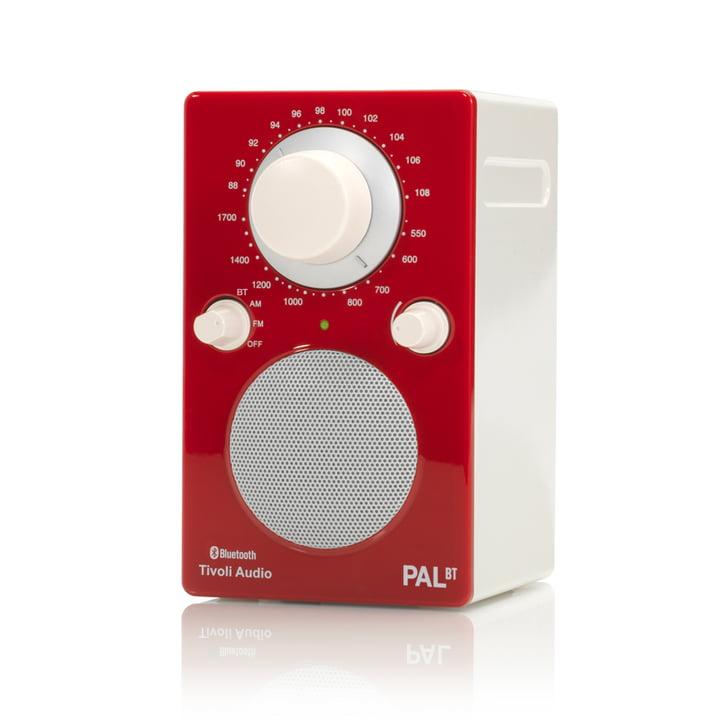 PAL BT Bluetooth Lautsprecher von Tivoli Audio in rot / weiß