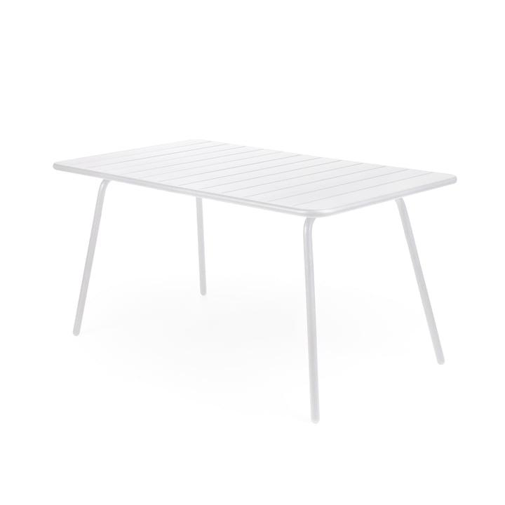 Luxembourg Tisch 80 x 143 cm von Fermob in Baumwollweiß
