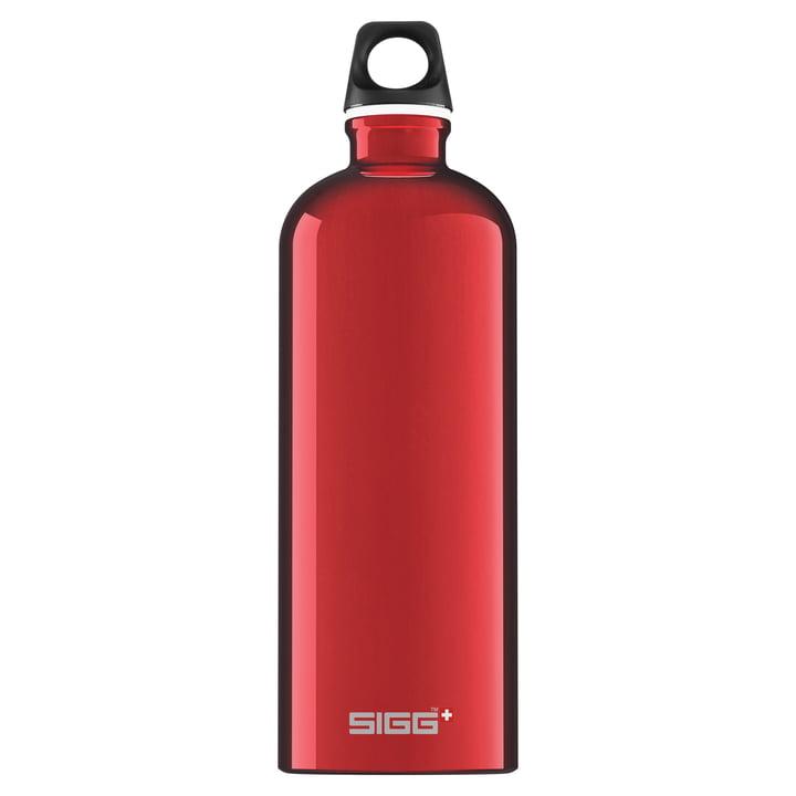 Traveller Trinkflasche 1 l von Sigg in rot