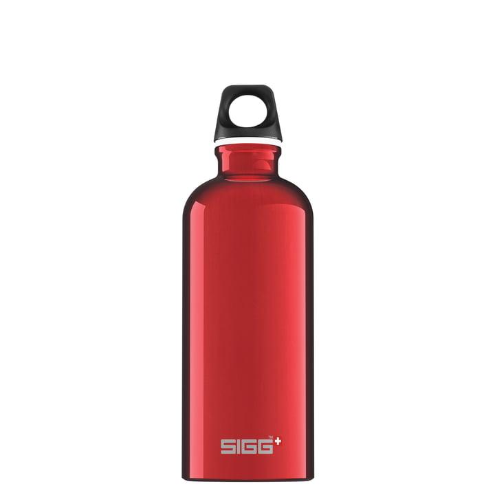 Traveller Trinkflasche 0,6 l von Sigg in rot