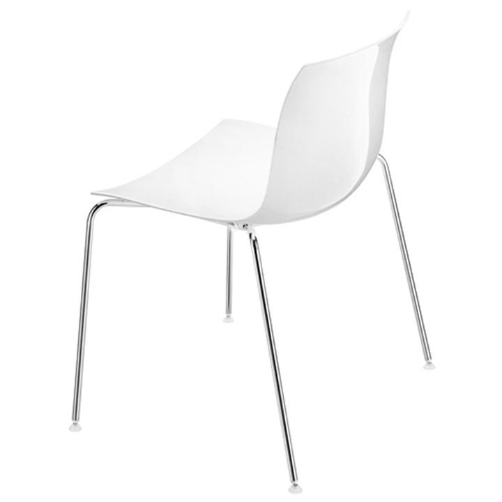 Arper - Catifa 53 Stuhl, Kunststoff-Sitzschale weiß / Vierfußges