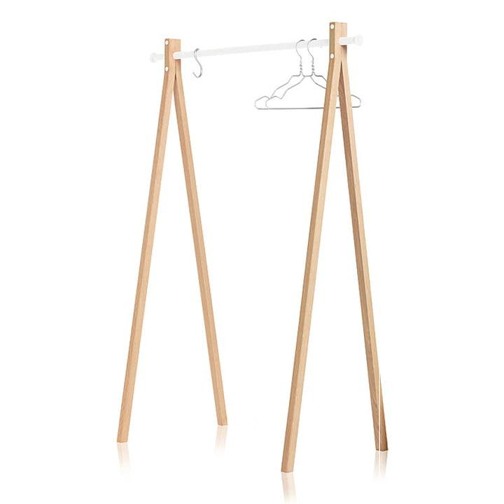 Nomess - Dress-Up Garderobenständer, Esche, weiß, 120 cm
