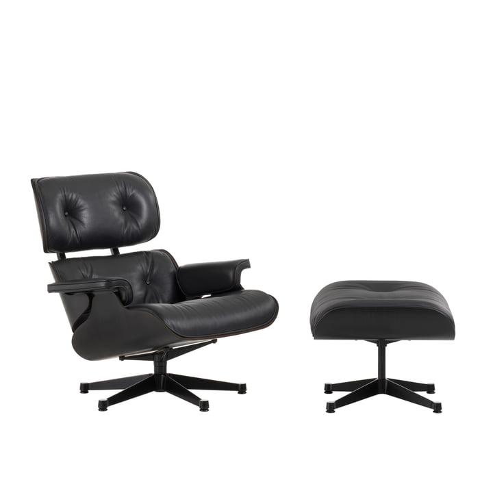 Vitra - Lounge Chair & Ottoman - Esche schwarz
