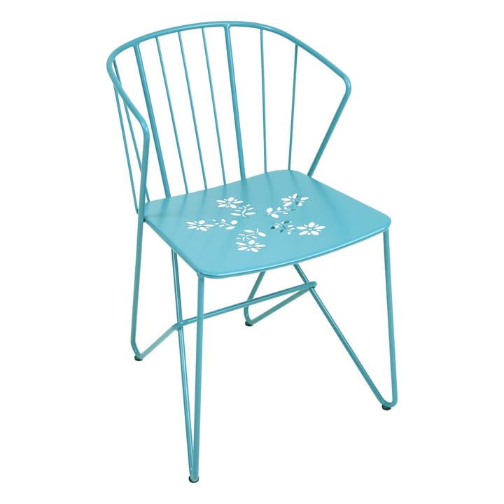 Flower Sessel mit Muster von Fermob in Türkis