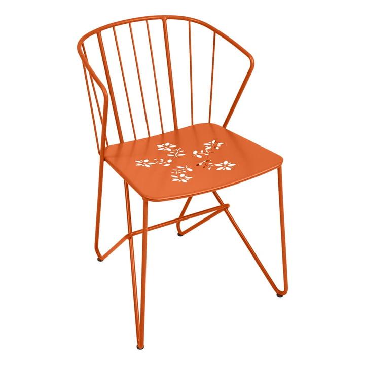 Flower Sessel mit Muster von Fermob in Karotte