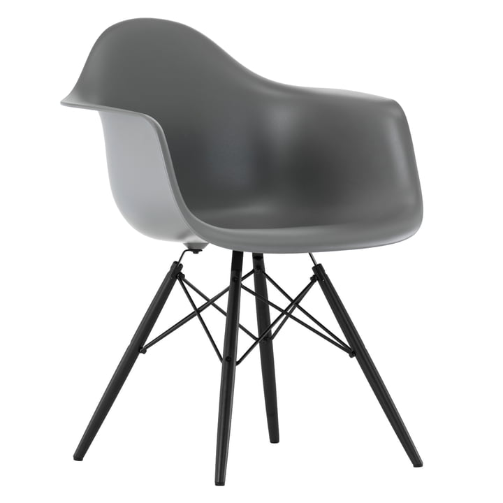 Vitra - Eames Plastic Armchair DAW, basalt, Ahorn schwarz