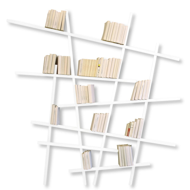 Edition Compagnie - Mikado Bücherregal, groß, weiß