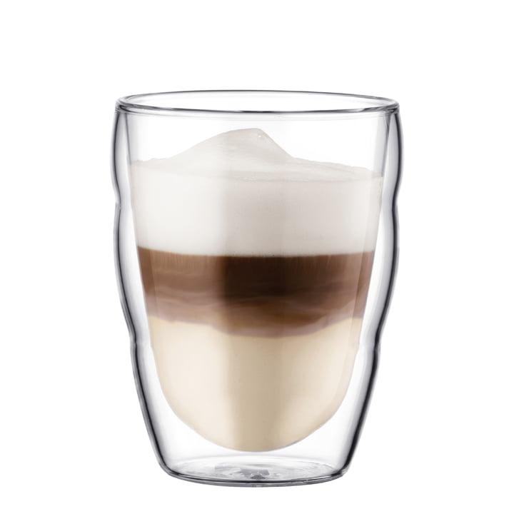 Bodum Pilatus Trinkglas mit Kaffee, 0,25 l