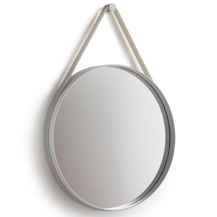 Strap Mirror 70 cm von Hay in grau