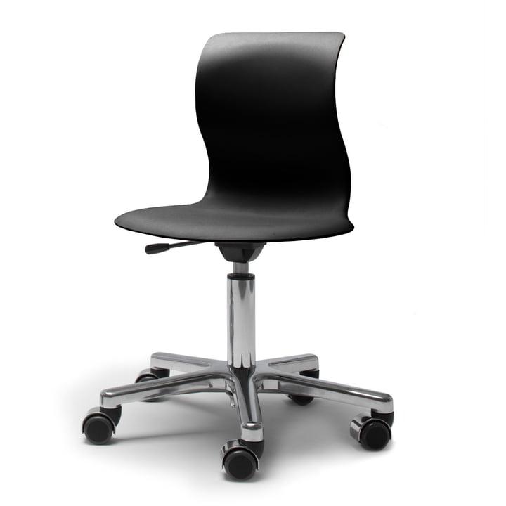 Flötotto, Pro 4 und 5 Drehstuhl Chrom, Sitzschale Graphitschwarz