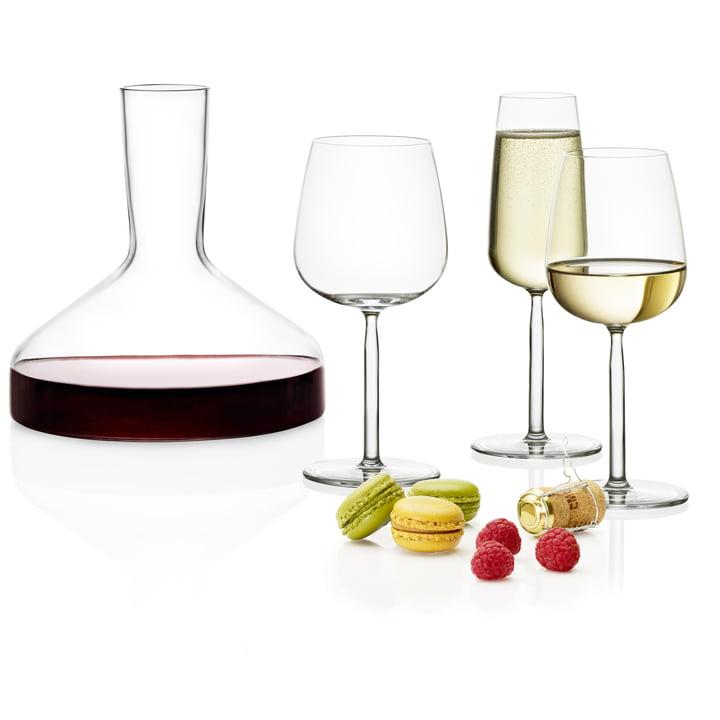 Iittala - Weinkaraffe Decanter und Senta Trinkgläser