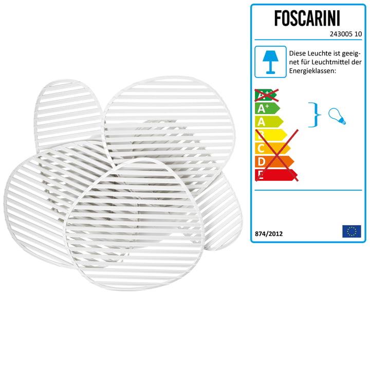 Foscarini - Nuage Wand- und Deckenleuchte, weiß