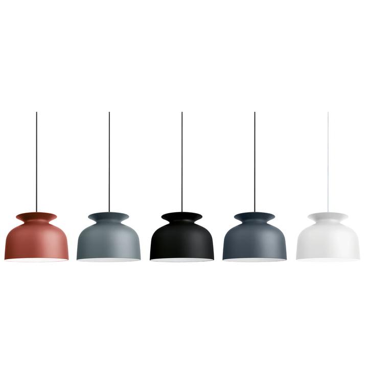 Gubi - Ronde Pendelleuchte, Ø 40 cm - Gruppe, Farben