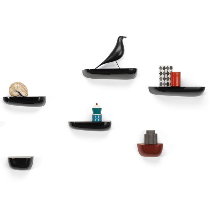 Vitra - Corniches, Gruppe schwarz, mit Eames Housebird