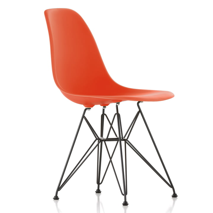 Eames Plastic Side Chair DSR von Vitra in basic dark / poppy red