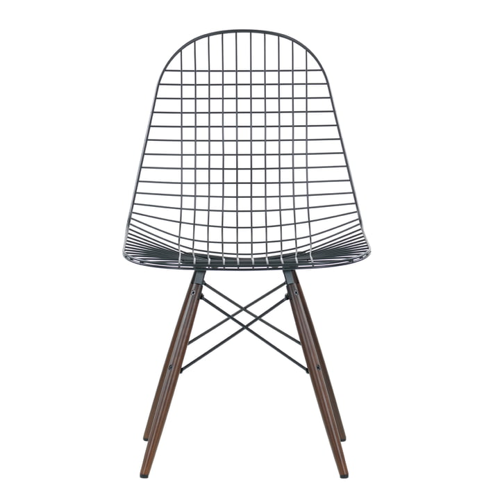 Vitra - Wire Chair DKW, Ahorn dunkel - Front