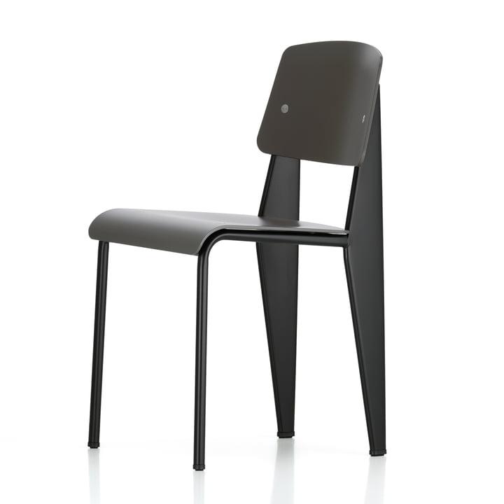 Prouvé Standard SP chair von Vitra in schwarz/basalt