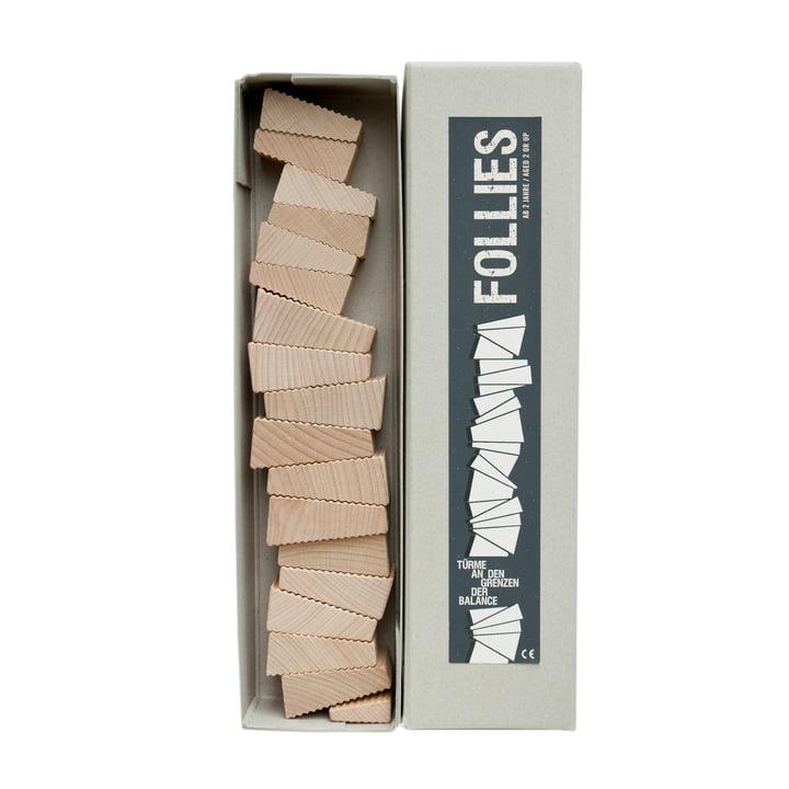 Lessing - Follies Stapelspiel, Verpackung