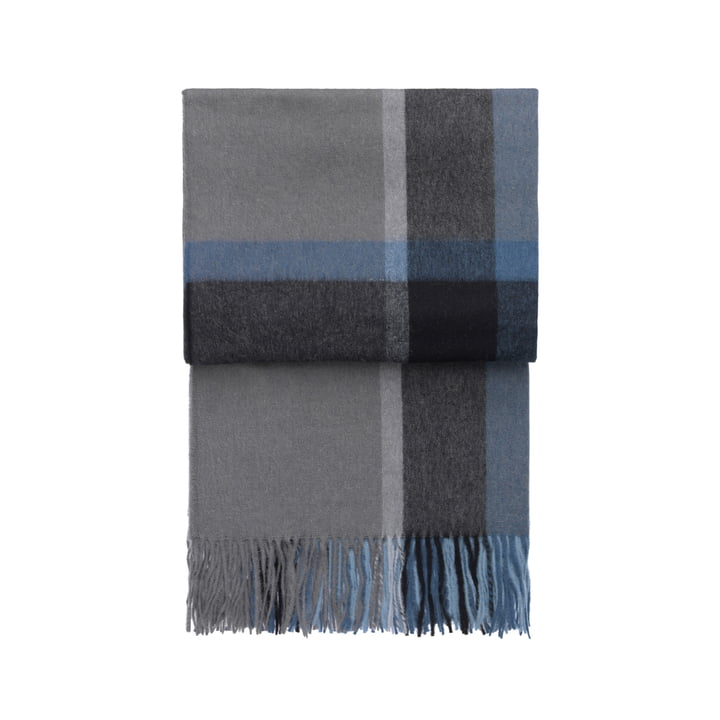 Elvang - Manhattan Decke, 7068, steel blue / dusty ocean