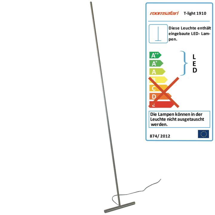 Roomsafari - T-Light Anlehnleuchte, LED warm, Fuß aus Aluminium