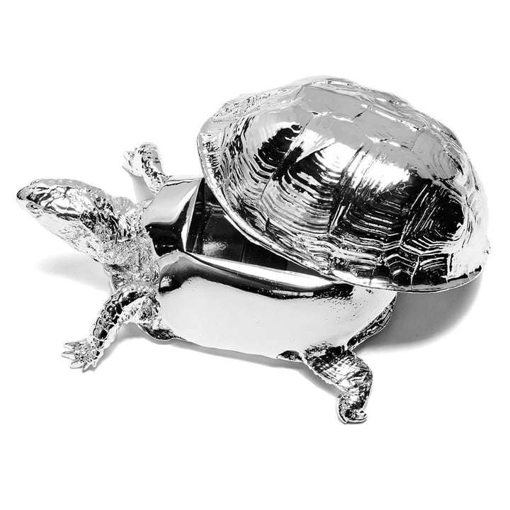 Areaware - Turtle Box, silber - offen
