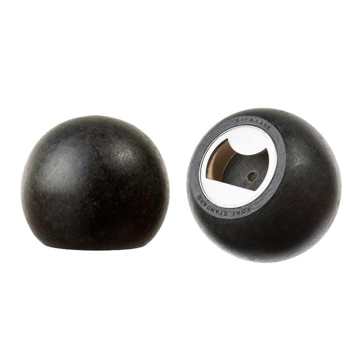 Areaware - Sphere Flaschenöffner, Holz schwarz - Seiten