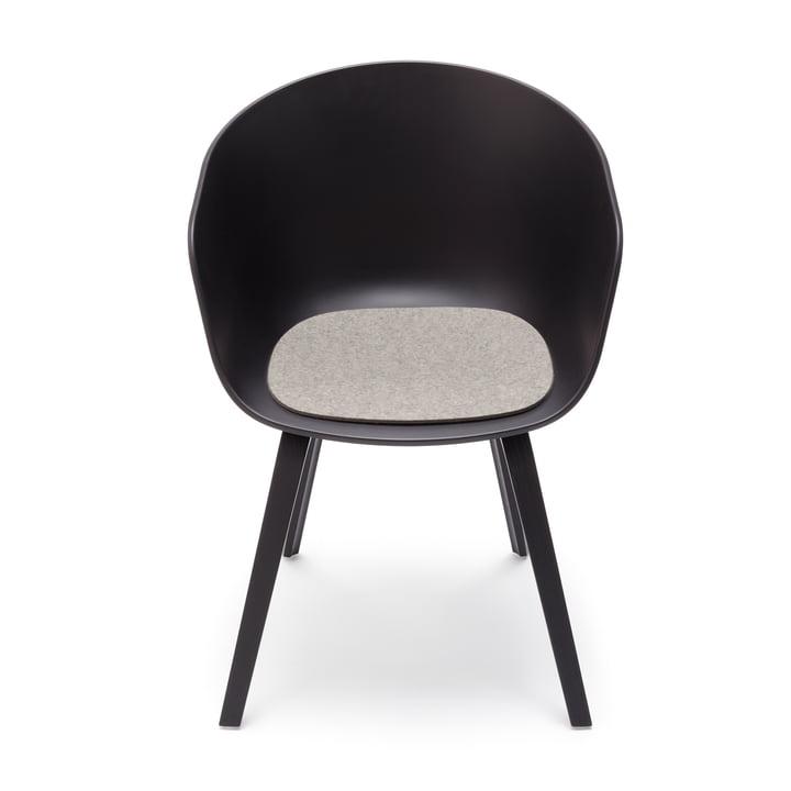 Hey Sign - Filz-Auflage für About A Chair, hellmeliert mit Stuhl