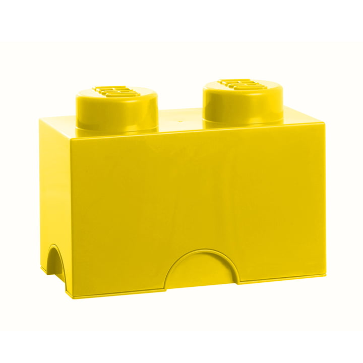Lego - Storage Brick 2, gelb
