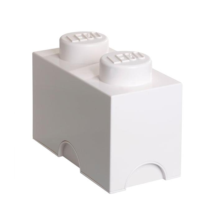 Lego - Storage Brick 2, weiß