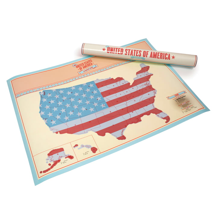 Luckies - Scratch Map USA - mit Verpackung