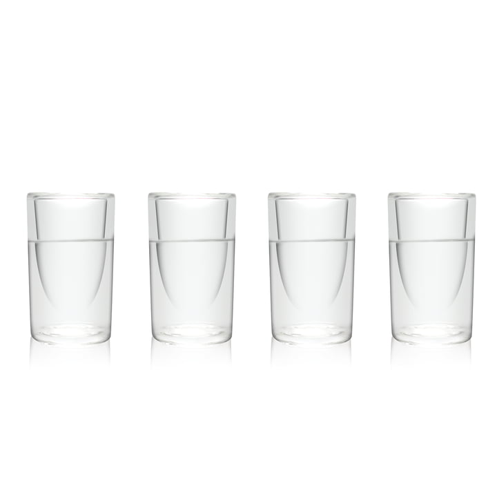 Amsterdam Glass - Schnaps-Glas, 45 ml, 4er-Set