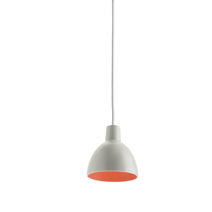 Louis Poulsen - Toldbod 120 Pendelleuchte, light grey / coral