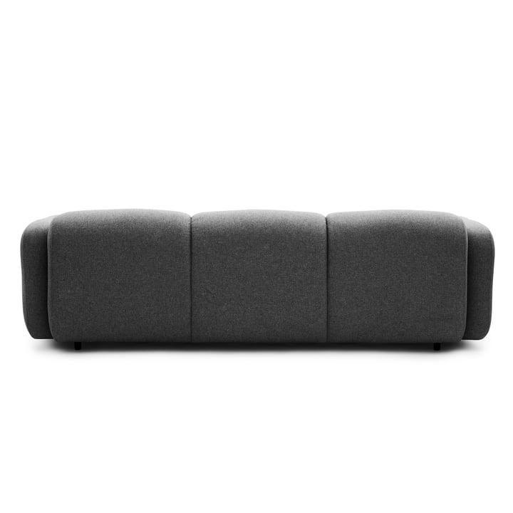 Normann Copenhagen - Swell 3-Sitzer, grau - Rückseite