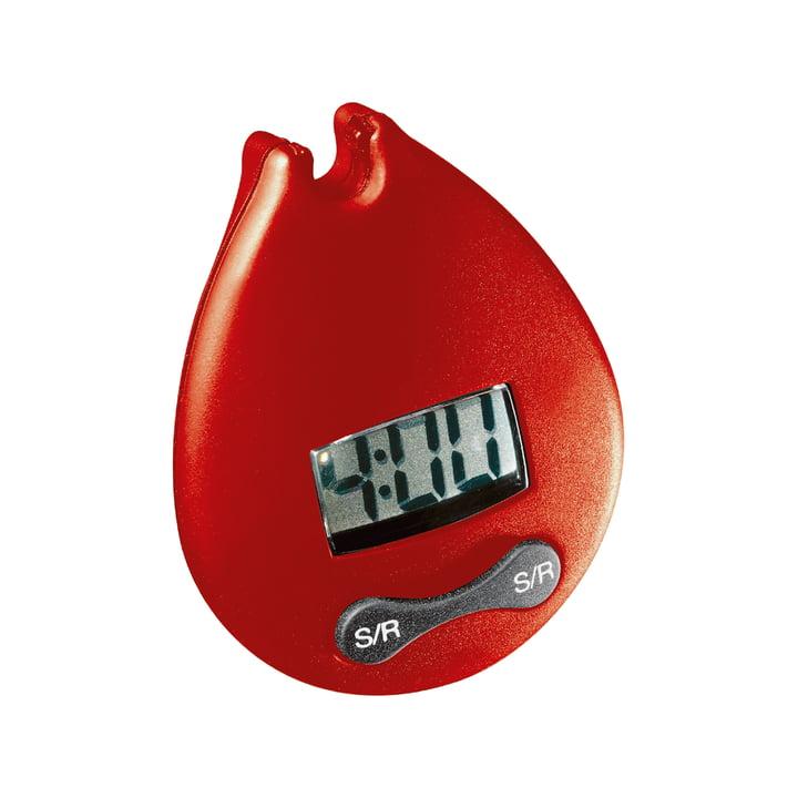 Bodum - Clip-Timer 4 Minuten Digitaltimer, rot