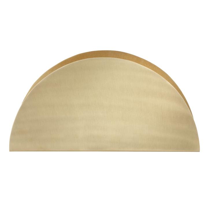 ferm Living - Brass Semicircle Papierhalter - vorne