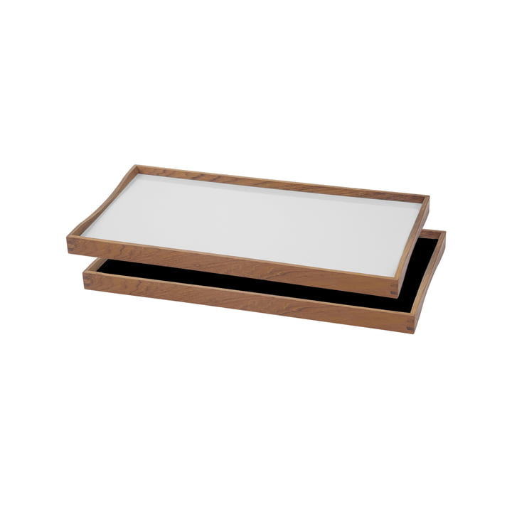Das Tablett Turning Tray von ArchitectMade, 23 x 45 cm, weiß