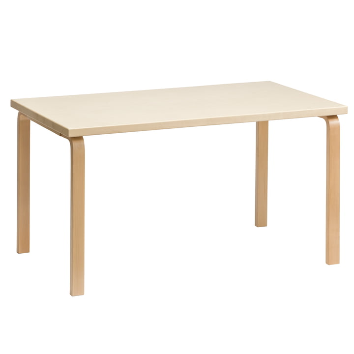 81A Tisch von Artek in Birkenfurnier