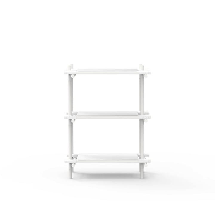 Stick System 1 x 3 von Menu in weiß / Esche weiß
