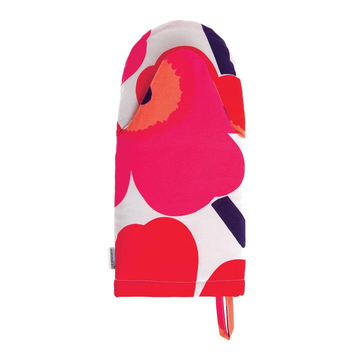 Pieni Unikko Ofenhandschuh von Marimekko in Weiß /Fuchsia /Rot
