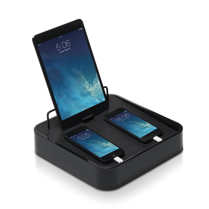 Bluelounge - Sanctuary4 USB-Ladeschale, schwarz