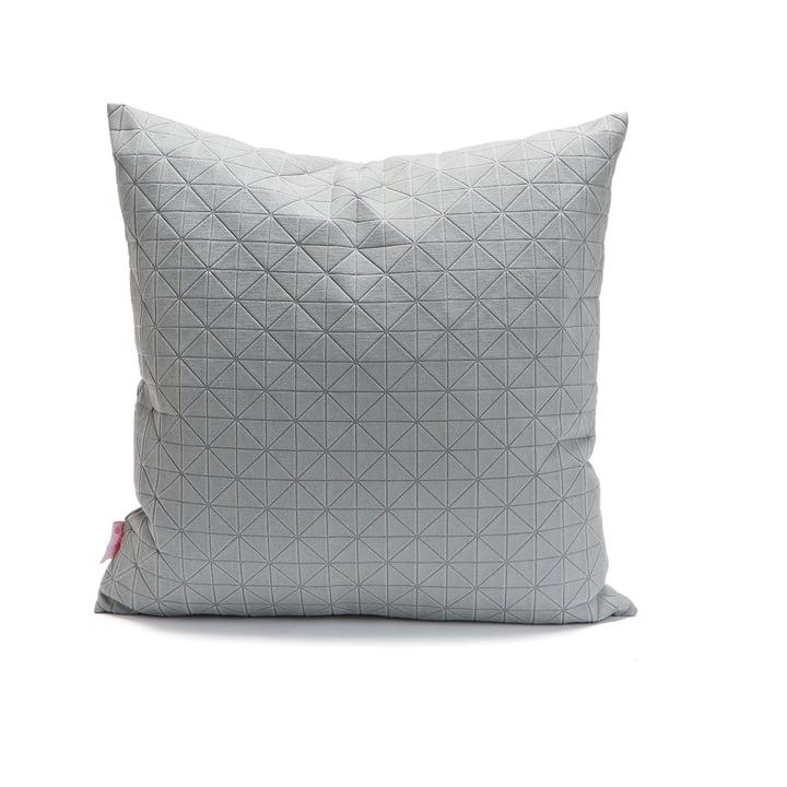 Mika Barr - Geo Origami Kissenbezug 50 x 50 cm, grau