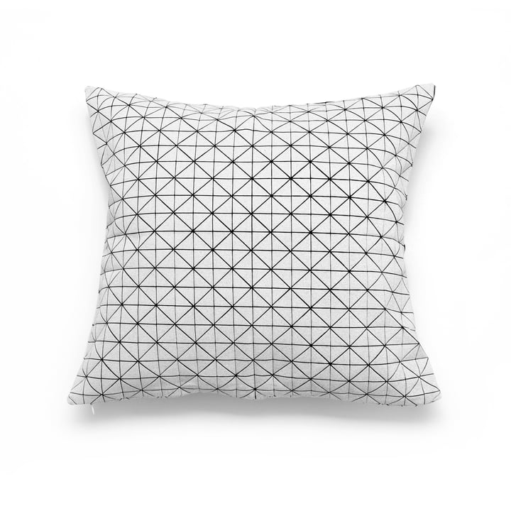 Mika Barr - Geo Origami Kissenbezug 50 x 50 cm, schwarz / weiß