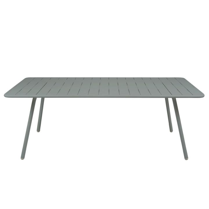 Luxembourg Tisch 100 x 207 von Fermob in Gewittergrau