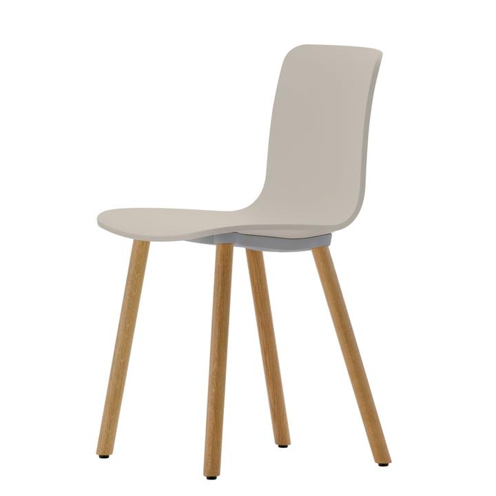 Hal Wood Stuhl von Vitra in Warmgrey / Eiche natur, Filzgleiter