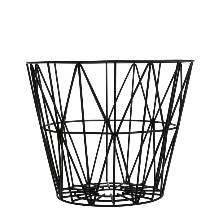 Wire Basket Small von ferm Living in Schwarz