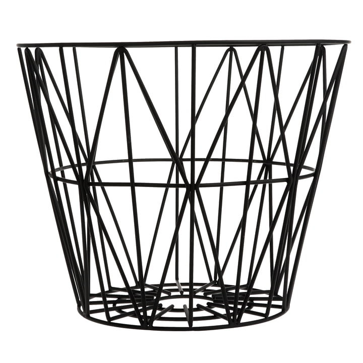 Wire Basket Large von ferm Living in Schwarz
