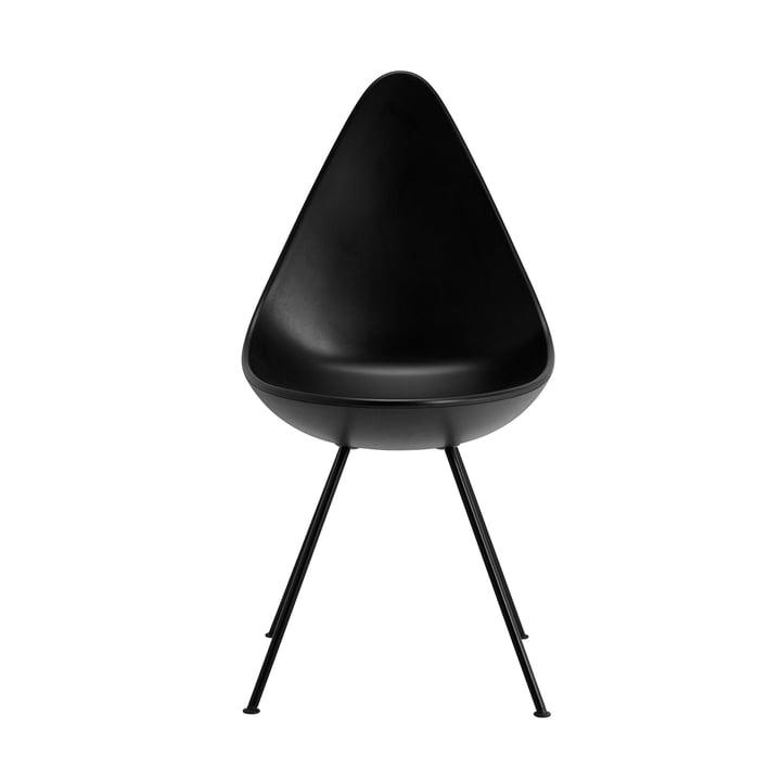 Drop Stuhl von Fritz Hansen in schwarz