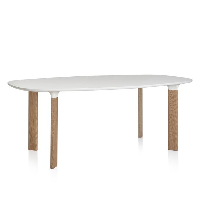 Fritz Hansen - Analog Tisch weiß / Eiche